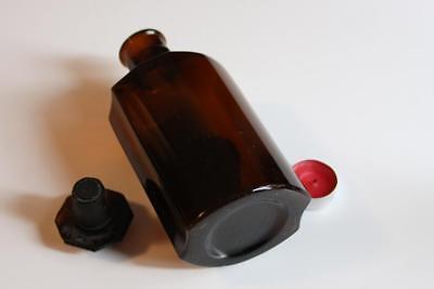 Apothekerflasche, Form selten, TINCT. CRATAEGI rund mit 4 Kanten,alt, grosse 3