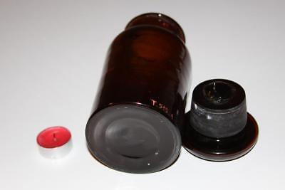Apothekerflasche, Form selten, rund, alt, DERMATOL. SCHLIFF STOPFEN breiter
