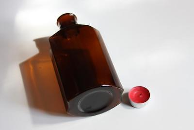 Apothekerflasche, Form selten, rund mit 4 Kanten,alt, grosse