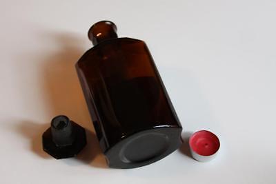 Apothekerflasche, Form selten, FERR. SESQUICHLOR. rund mit 4 Kanten,alt, grosse