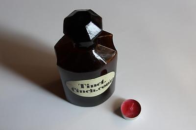 Apothekerflasche, Form selten, TINCT. CINCH. COMP. rund mit 4 Kanten,alt, grosse