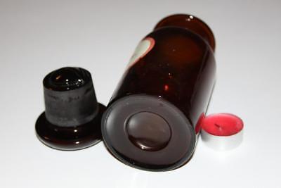 Apothekerflasche, Form selten, rund, alt, HYDANTOIN. SCHLIFF STOPFEN breiter