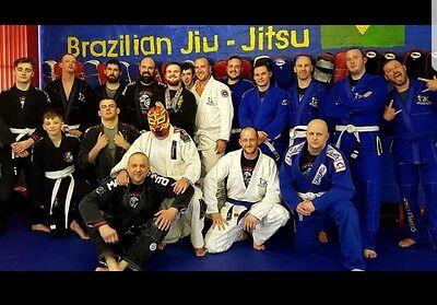 Grapple KINGS BJJ GI White MMA Judo Juijitsu FREE White Belt A4