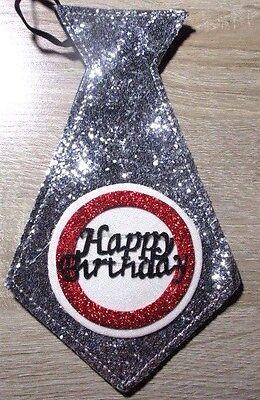 """Geschenk zum Geburtstag Krawatte /"""" Happy Birthday /"""" 19,5 cm"""