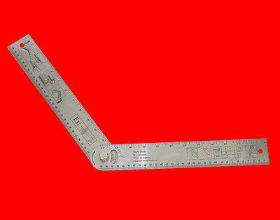 3 tlg Messwerkzeuge Gradmesser Reissnadel Metallzirkel