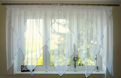 Schöne Fertiggardine aus Voile NEU Gardine GD9a Top Design Modern Balkontür