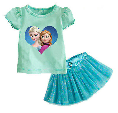 T-shirt A00011 Rapunzel Girl Set skirt Gonna e Maglia Completo Frozen