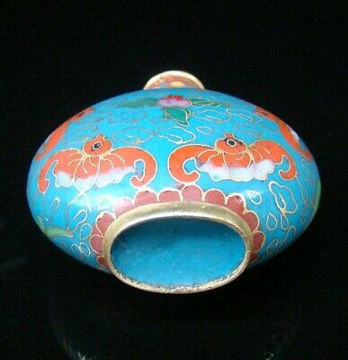 Collectibles 100% Handmade Painting Brass Cloisonne Enamel Snuff Bottles 088 8