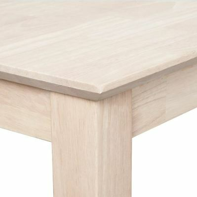 Unfinished Stainable Paintable Solid Wood Shaker Sofa Console Table