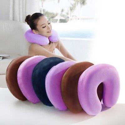 Inflatable U-shaped Travel Head Neck Rest Air Cushion Pillow Sleep Cushion E7CX 2