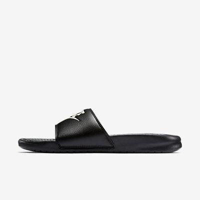 NWT Nike Benassi JDI Black white Men's Slides slide 8 9 10 11 12 13 flip flop 2