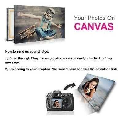 Personalised Photo on Canvas Art Print Framed A0 A1 A2 A3 A4 A5 Ready to Hang.\ 2