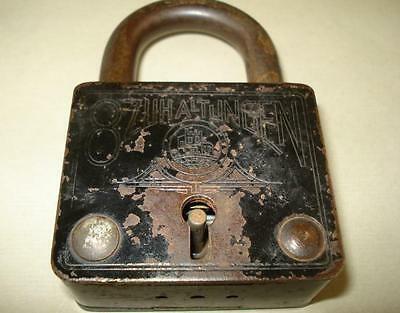 Antique German Padlock DRGM ,Many Inscriptions 2