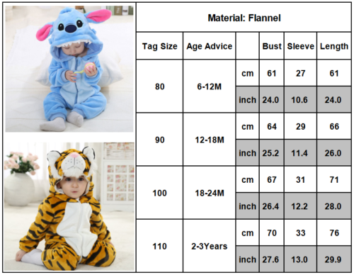 05bd99b5b791 BABY BOY ANIMAL Romper Fleece One Piece Pajamas Outfit Costume Party ...