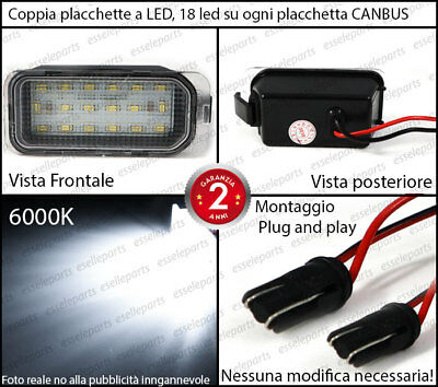 Coppia Placchette Led Targa 18 Led Ford Fiesta Mk6 Vi Canbus Ultraluminosi 2