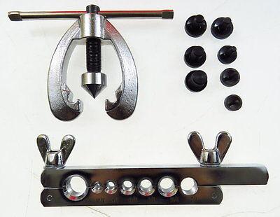 Bördelgerät Bremsleitung Werkzeug Doppel Bördelwerkzeug Set für Kfz Bördeln 9tlg