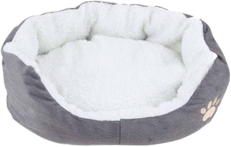 Deluxe Warm Soft Washable Dog Cat Pet Warm Basket Bed Cushion with Fleece Lining 10