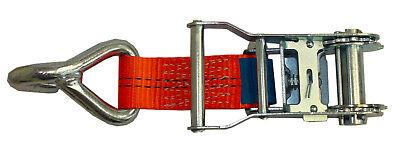 4x Spanngurt AUTO TRANSPORT  Zurrgurt Radsicherung PKW KFZ Trailer Anhänger (21) 6