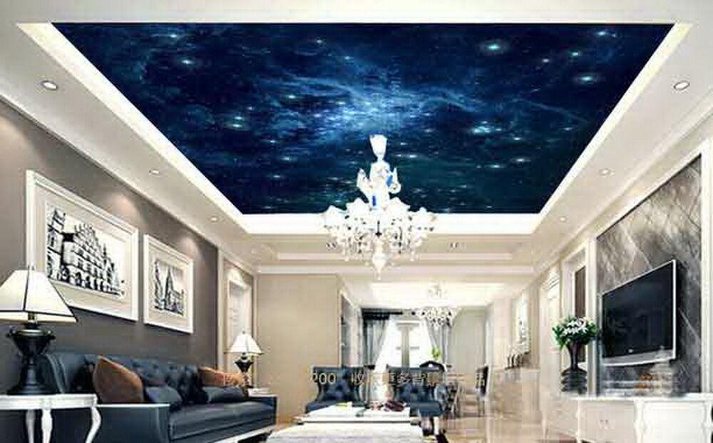 3d Galaxy Star Sky Wallpaper Ceiling Decals Wall Art Print