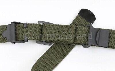 M1 Garand Sling OD Green Cotton Web for USGI 1903 Mil Civ WWII Korea *US Made* 6