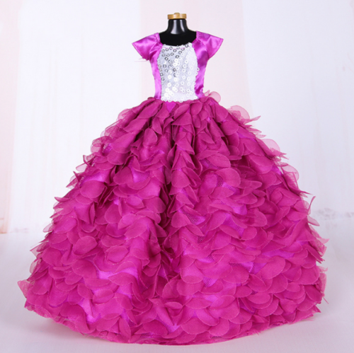 9PCS Barbie Doll Wedding Party Dress Princess Clothes Handmade Outfit for 12in. 8