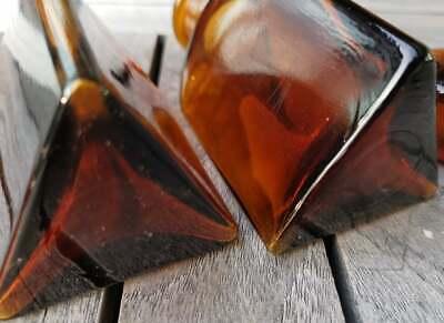 Apotheker - Altes Pärchen für Morphine ohne Etikett-SELTEN! Dreieckige Flaschen 5