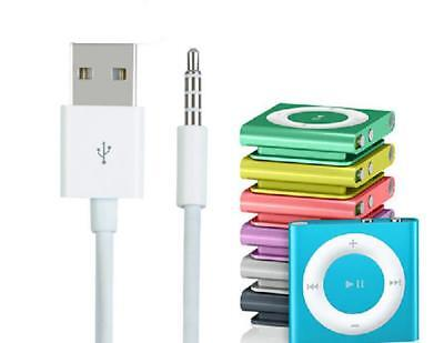 USB Data Sync Charger Cable Adapter 3.5mm for Apple iPod Shuffle 3/4/5/6/7 2