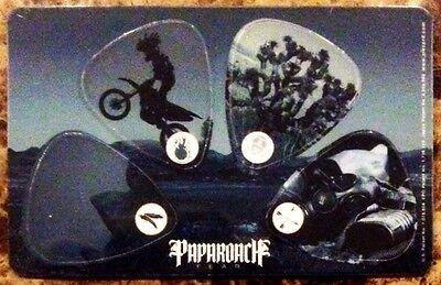 Time For Annihilation Tour 2011 PAPA ROACH RARE 6 Guitar Picks Lot with Tin