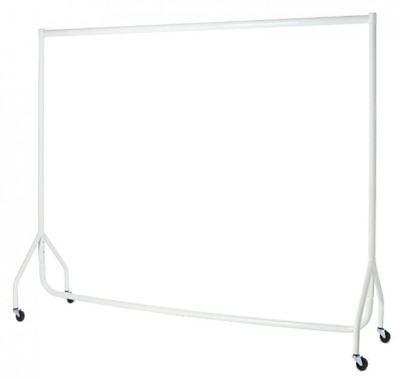 ❤ WHITE HEAVY DUTY 3ft,4ft,5ft,6ft Garment Clothes Rails Hanging Shop Displays ❤ 2