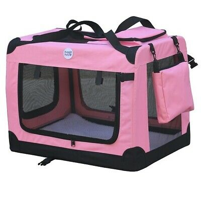 HugglePets Fabric Dog Crate Puppy Carrier - Cat Travel Cage Carry Pet Bag 4 Size 6