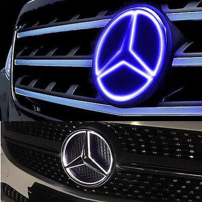 Illuminé LED lumière Emblème Logo Grille LED Badge Avant pour Mercedes Benz NEUF 9