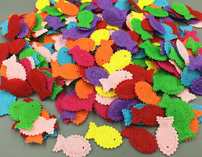 400pcs high quality Fish shape Felt Appliques Cardmaking decoration 23mm 2
