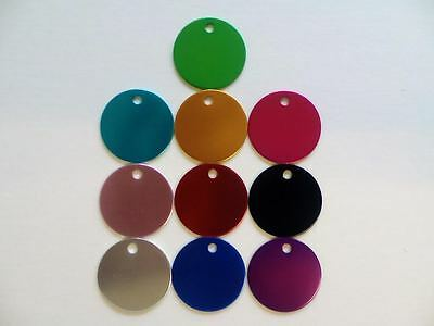 Dog Tags Round Disc Shaped Pet Tag Puppy Cat Dog Tags Aluminium Discs 2