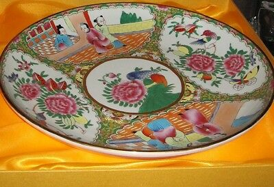 "Stunning Vintage Chinese Plate-KAROLINA LEHMAN-15.5""-Original Box Included"