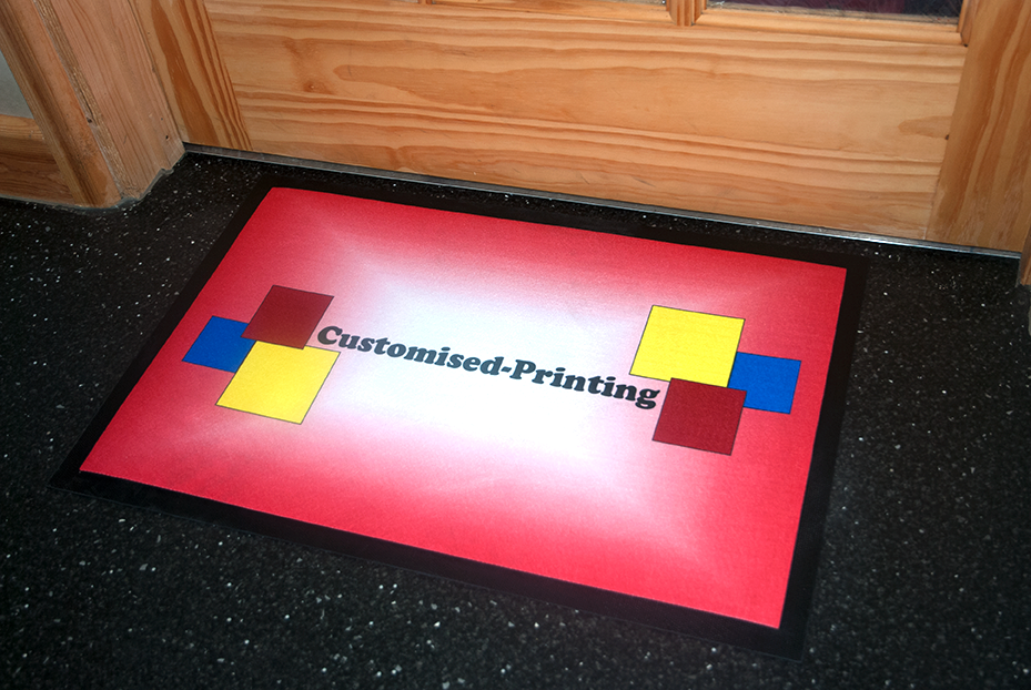 PERSONALISED CUSTOM PRINTED Non Slip Rectangular Door Mat with Photo Image Logo 3