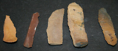 10 Egyptian Faiyum Predynastic Flint Flaked Hand Stone Tools 7400-6400 BC #8 2
