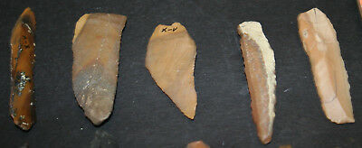 10 Egyptian Faiyum Predynastic Flint Flaked Hand Stone Tools 7400-6400 BC #3