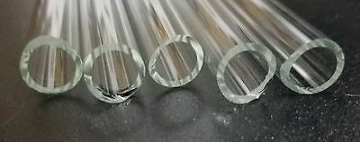 "13 mm OD 10 mm ID Pyrex Glass Borosilicate Tubing Clear Tubes 11-12"" / 19 -20"" 2"