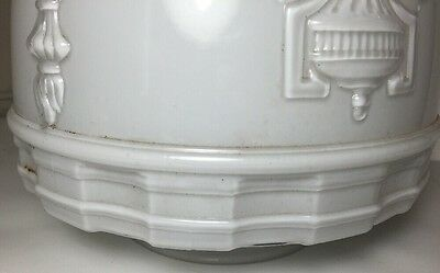 Excellent Vintage White Frosted Ceiling Light Fixture Shade Home Decor 4