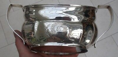 Antique Irish Silver Bowl By Robert Breading, Dublin Ireland Hallmarked In 1805 2