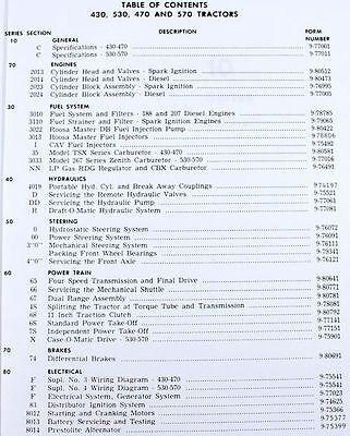 case 430 530 470 570 tractor service repair manual shop book overhaul 2