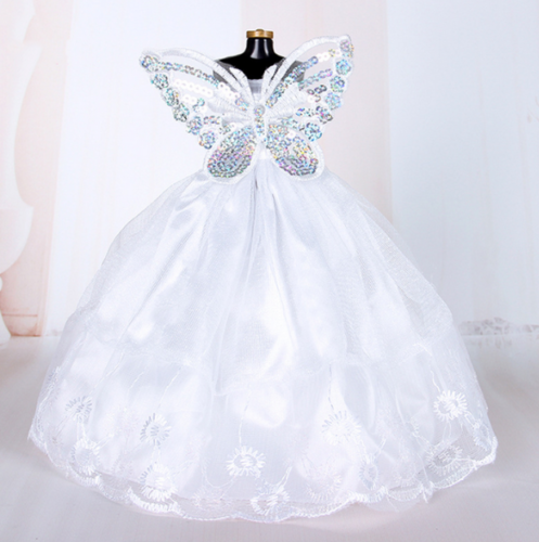 9PCS Barbie Doll Wedding Party Dress Princess Clothes Handmade Outfit for 12in. 3