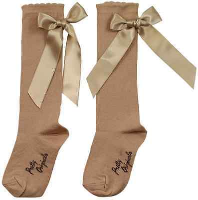 BNWT Girls Classic Knee Length Socks with Bows by Pretty Originals 3