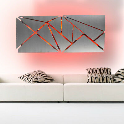 Modern Large Geometric Abstract Metal Wall Art Led Decor
