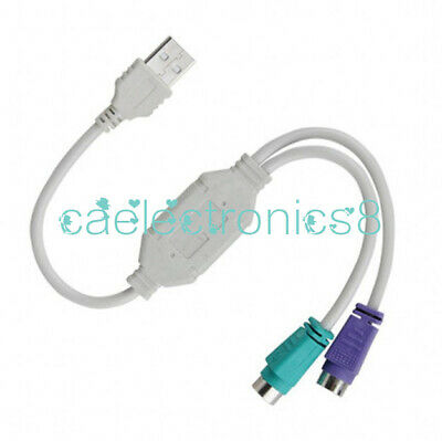 Dual PS2 Female to USB Male Converter Adaptor Cable F//M for Mouse Keyboard A158