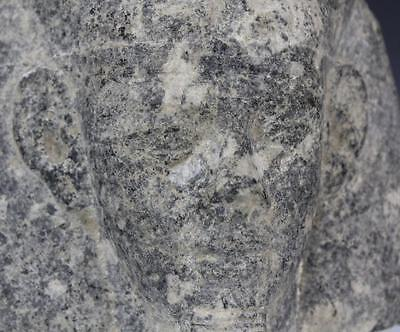 Granite Egyptian Pharaoh Head Sculpture from Morris Lapidus Estate Lot 110 3