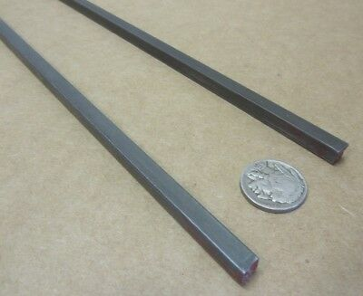 """Square W1 Tool Steel Bar  1/4"""" Thick x 1/4"""" Wide x 36"""" Length, 2 Pieces 11"""