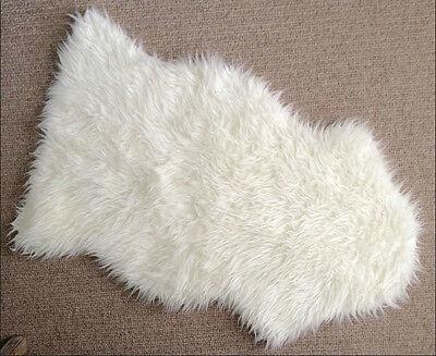 1 Of 4free Shipping Ikea Faux Sheepskin Rug 40x24 White Armchair Drape Soft Cozy Home Deco Tejn New
