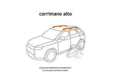 5500+55 BARRE PORTATUTTO PORTAPACCHI GEV DISCOVERY NERO FIAT 500 DAL 2007