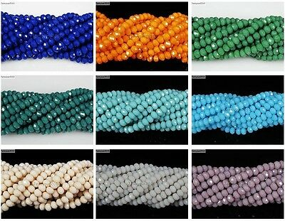 Czech Crystal 2mm x 3mm Faceted Rondelle Loose Beads For Bracelet Necklace Craft 3